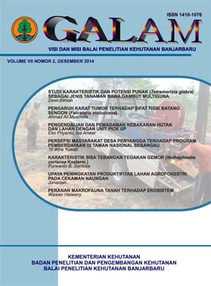 GALAM VOLUME VII NOMOR 2, DESEMBER 2014
