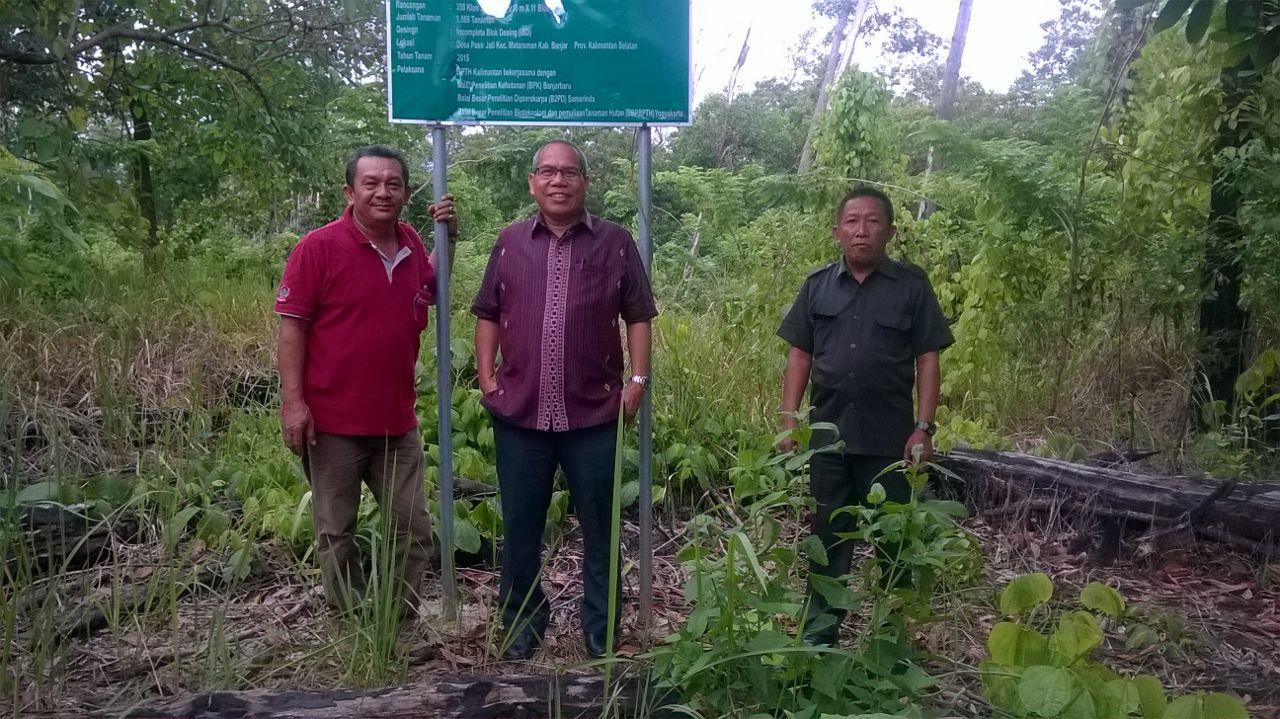 Ir. Mintarjo, M.MA, Direktur Perbenihan Tanaman Hutan Tinjau KBK Meranti di KHDTK Riam Kiwa