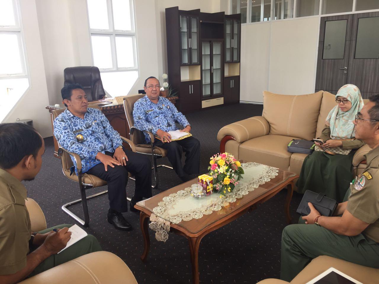 Audiensi dengan Bupati Pulang Pisau terkait Kegiatan Repeat  di KHDTK Tumbang Nusa, Pulang Pisau