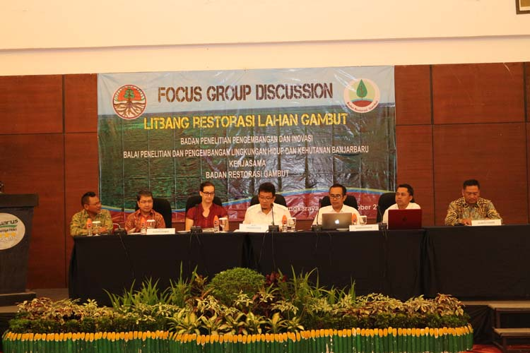 RESTORASI RAWA GAMBUT, BP2LHK BANJARBARU GELAR FOCUS GROUP DISCUSSION BERSAMA BRG
