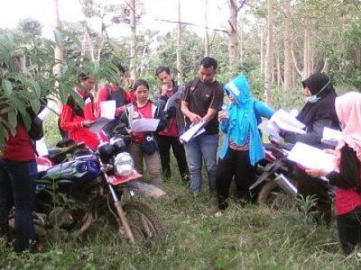 Mahasiswa ULM  Banjarbaru Penelitian Tanaman Nyawai di KHDTK Riam Kiwa