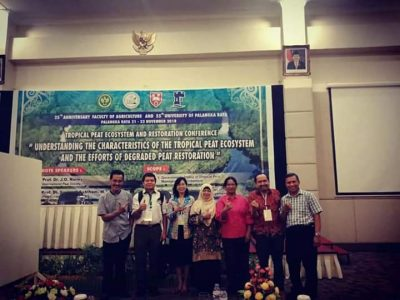 "Profesor Riset BP2LHK Banjarbaru Berpartisipasi dalam Seminar Internasional : ""Tropical Peat Ecosystem and Restoration Conference"""