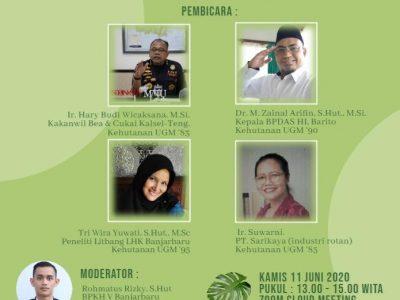 Peneliti Balai Litbang LHK Banjarbaru Menjadi Pembicara dalam Webinar Kagamahut Kalsel