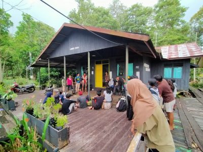 EcoTour RePeat bersama Youth Act Kalimantan, di KHDTK Tumbang Nusa